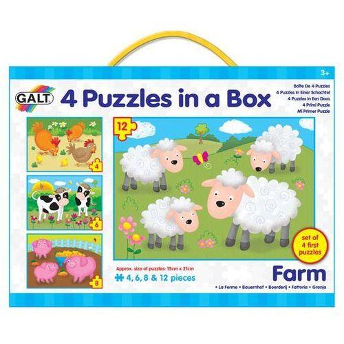4 puzzle w pudełku - farma marki Galt