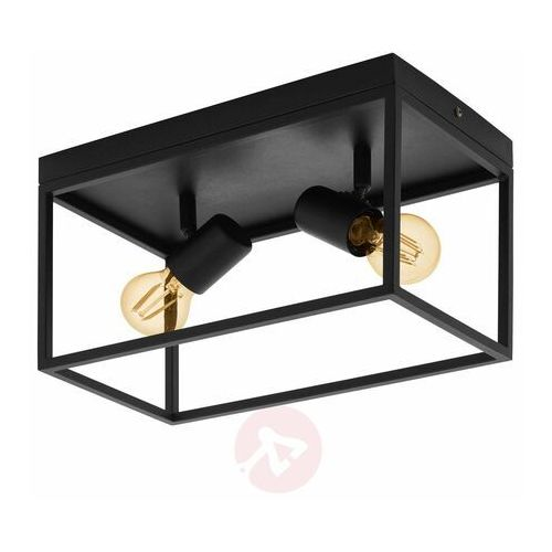 silentina 98332 plafon lampa sufitowa oprawa 2x40w e27 czarna marki Eglo