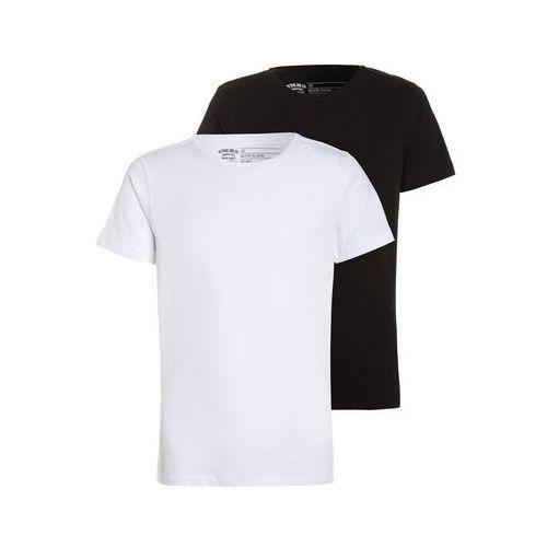 Petrol Industries BODYFITS RNECK 2 PACK Tshirt basic bright white/black, kolor niebieski