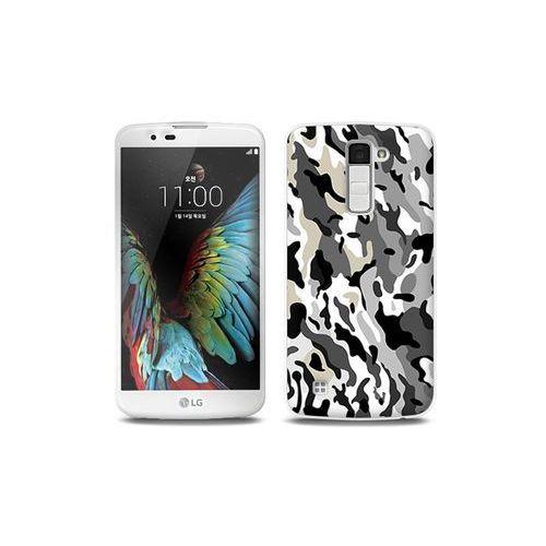 LG K10 - etui na telefon Full Body Slim Fantastic - szare moro, kolor szary