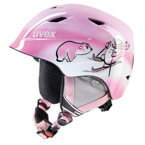 Dziecięcy kask narciarski  airwing 2 pink snowman s (52-54 cm) marki Uvex