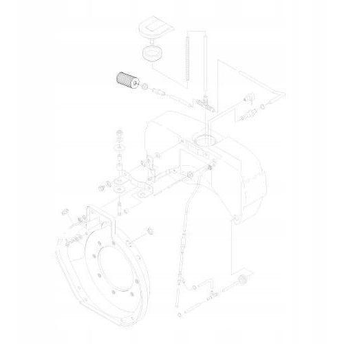 HATZ 01635210 Filtr paliwa 1B20 1B30 1B40 1B50 Oryginalny, 01635210