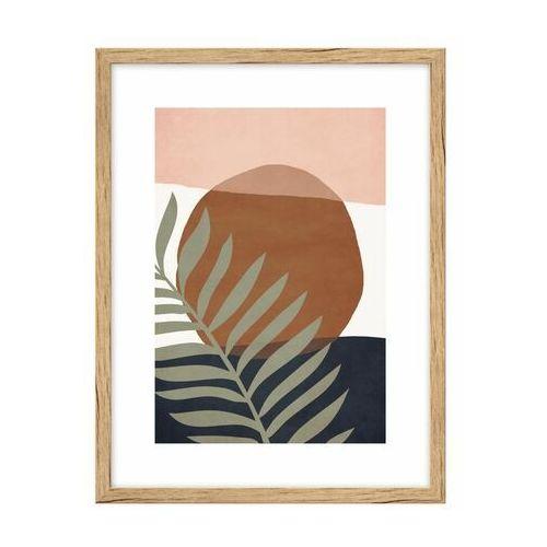 Knor Obraz liść na kolorowym tle i 30 x 40 cm