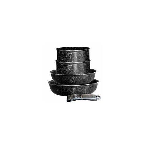 Berlinger haus Komplet garnków 5 elementów czarny [bh-1478] (5999056774520)