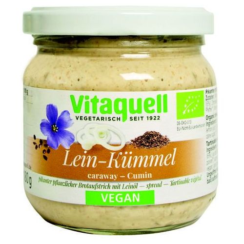 Pasta kanapkowa eko z olejem lnianym i kminkiem bio 180 g - vitaquell, marki Bio planet
