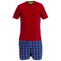 D555 evan piżama męska czerwona duże rozmiary marki Duke