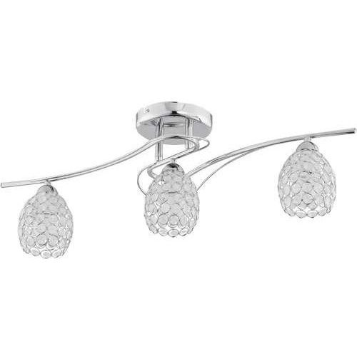 Alfa Plafon zara 20003.00 lampa sufitowa 3x40w e14 chrom/kryształ