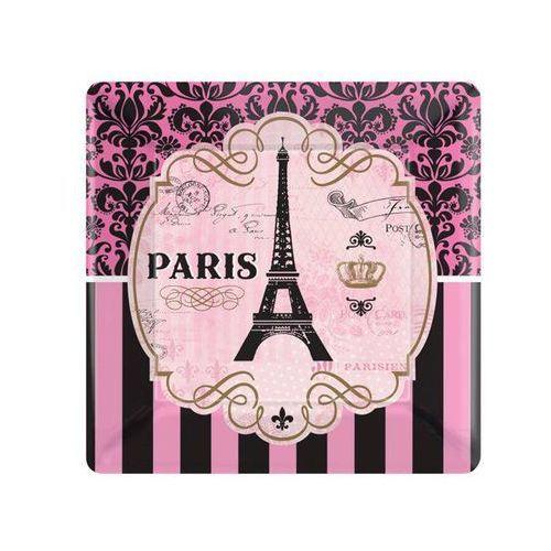 Talerzyki kwadratowe Paryż - 25 cm - 8 szt.