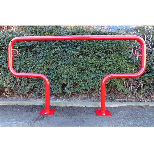 Pałąk wsporczy do rowerów, wys. 850 mm ponad podłożem, do zakotwienia, lakierowa marki Melzer metallbau gmbh & co. kg
