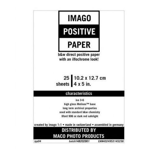 """Rollei film Imago direct positive 4x5""""/25 rc błysk papier pozytywowy"""