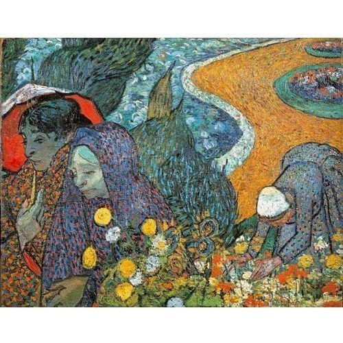 Reprodukcja Memory of the Garden at Etten (Ladies of Arles) 1888 Vincent van Gogh