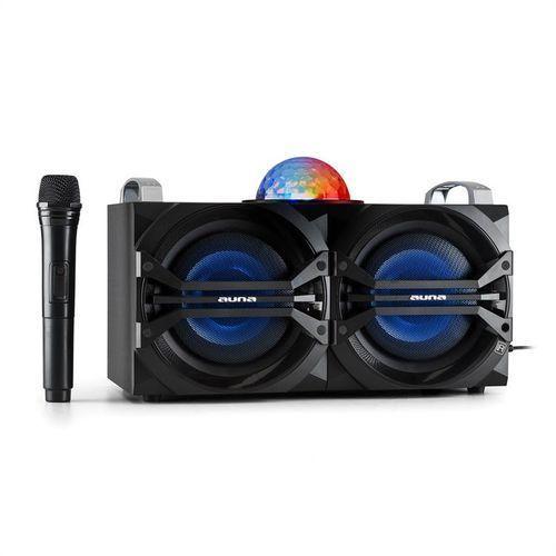 Auna  disgo box 265 system audio imprezowy akumulator bluetooth usb mp3 fm efekt świetlny