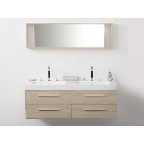 Zestaw mebli łazienkowych beżowy MALAGA