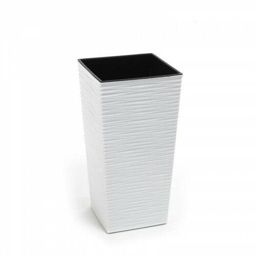 Doniczka finezja dłuto 30 cm biała 105/99-10