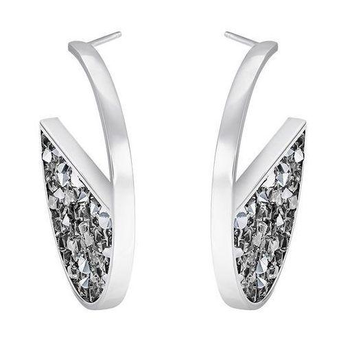 Swarovski Crystaldust Hoop Pierced Earrings, Gray Gray Rhodium-plated - sprawdź w wybranym sklepie