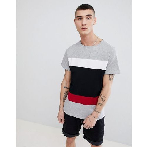 2 stripe colour block t-shirt - black marki Another influence