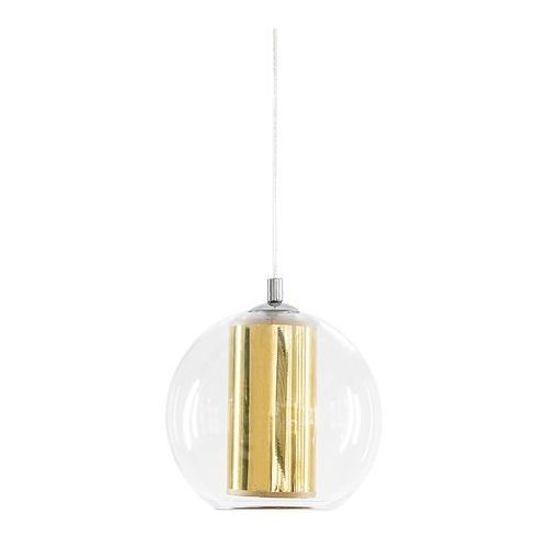 Kaspa Nowoczesna lampa wisząca merida l 10398105 szklana oprawa abażurowa zwis kula ball przezroczysta złota (5902047302206)