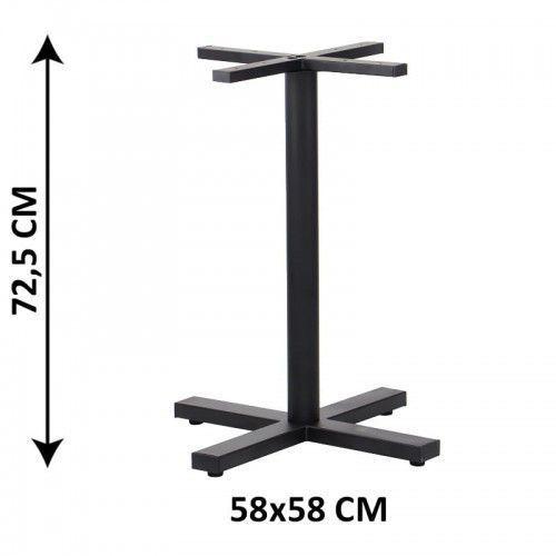 Stema - sh Podstawa stolika sh-3046-1/b, 58x58 cm, (stelaż stolika), kolor czarny
