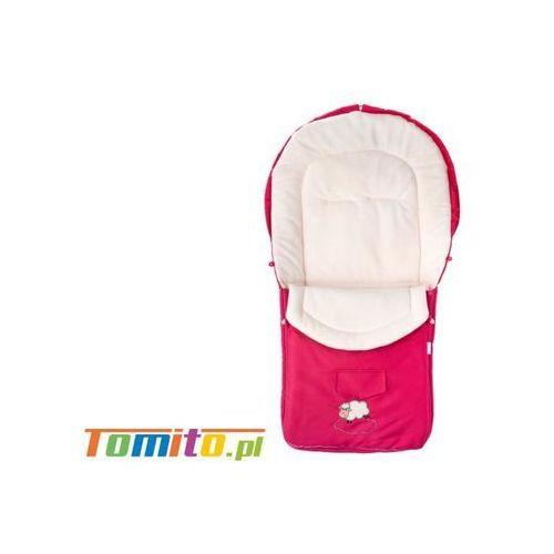 Śpiworek do wózka kombinezon zimowy polarowy raspberry marki Caretero