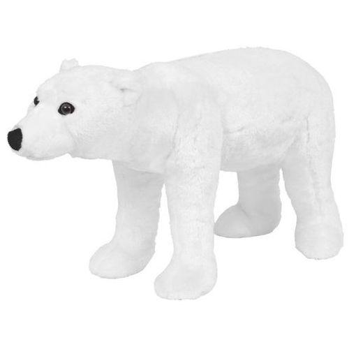 vidaXL Pluszowy niedźwiedź polarny, stojący, biały, XXL