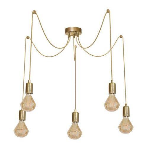LAMPA wisząca ARACHNE ML603 Milagro industrialna OPRAWKA metalowa ZWIS pająk spider złoty, ML603