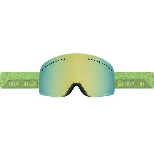 Gogle snowboardowe  - nfx - stone green/smoke gold + yellow red ion (787) marki Dragon
