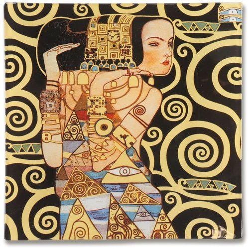 Talerz dekoracyjny - Gustav Klimt Oczekiwanie 15x15cm /box