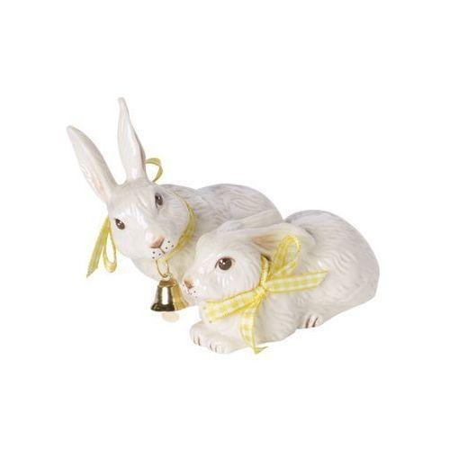 Villeroy & boch - easter bunnies figurka porcelanowa dwa zające