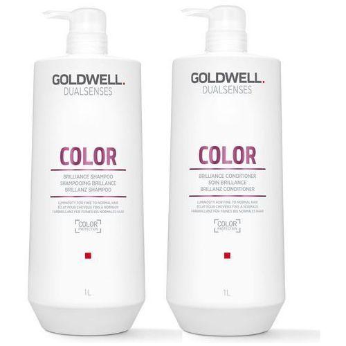Goldwell Color   Zestaw do włosów farbowanych: szampon 1000ml + odżywka 1000ml