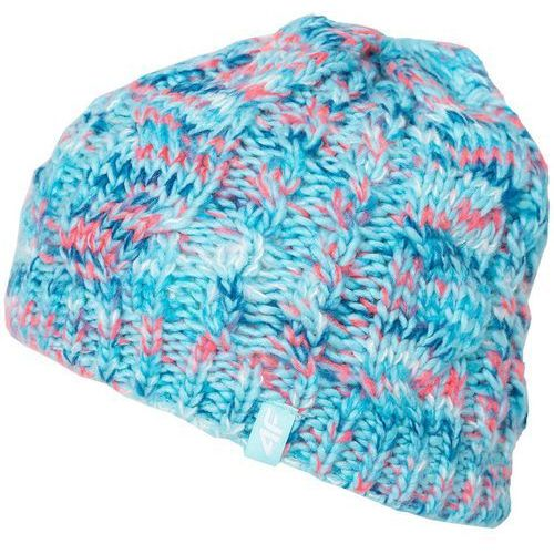 Damska zimowa czapka z17 cad006 niebieski melanż s/m marki 4f