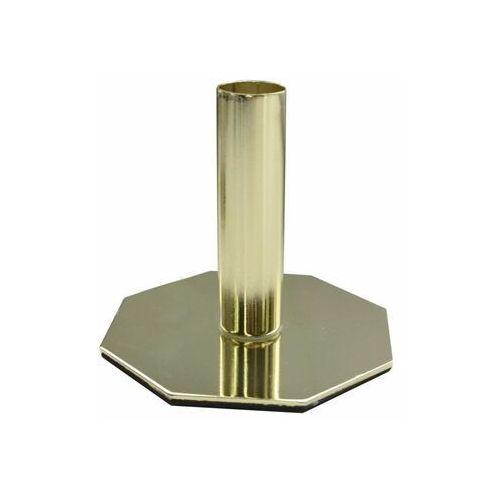Świecznik metalowy na świecę stołową wys. 9.5 cm miedziany (5903039407046)