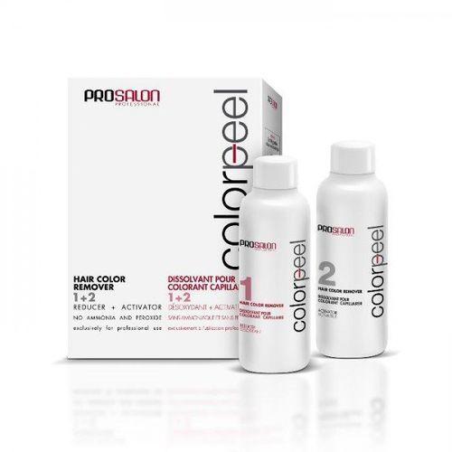 OKAZJA - ProSalon Color Peel Hair Color Remover 1+ 2 - Dekoloryzator do włosów, 2 x 100g