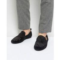 Frank Wright Slipper Shoes With Studded Toe - Blue, kolor niebieski