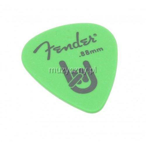 Fender Rock On 0.88 green kostka gitarowa