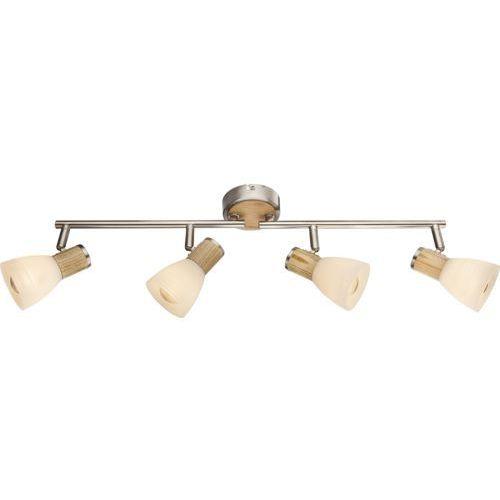 Listwa lampa oprawa sufitowa gylfi 4x40w e14 biały/beżowy/matowy chrom 54352-4 marki Globo