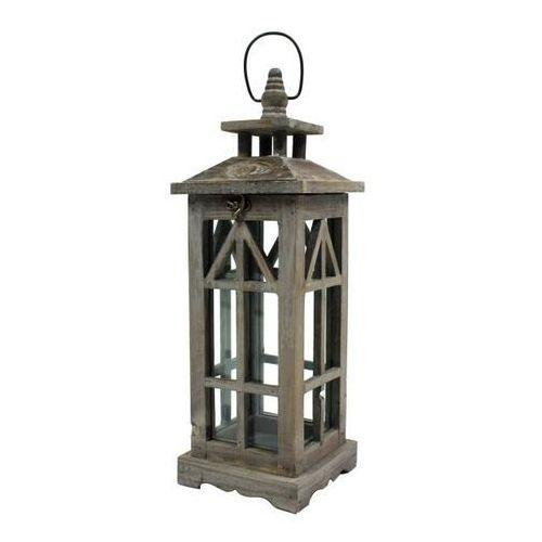 Latarnia drewniana Mocca Pagoda 45 cm, 90905