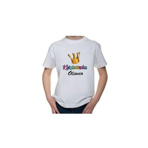 OKAZJA - Koszulka dziecięca księżniczka + imię marki Megakoszulki