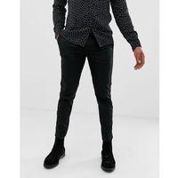 Burton Menswear slim fit trousers with velvet side stripe in black - Black, slim