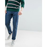 slim fit linen chinos in navy - navy marki United colors of benetton