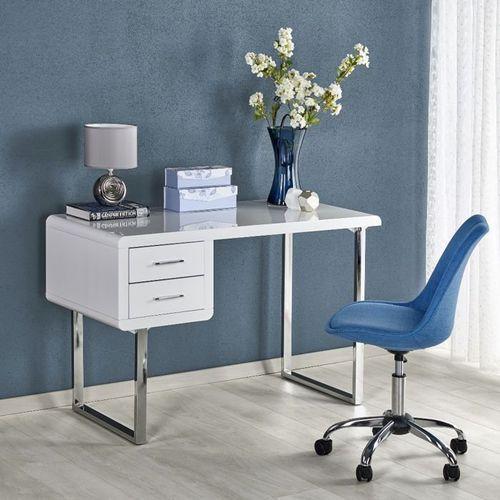 Natty białe biurko w stylu glamour