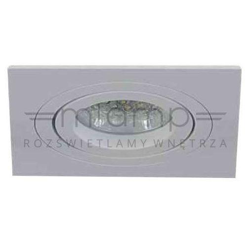 Oczko lampa sufitowa fasto i bianco metalowa oprawa podtynkowa wpust kwadratowy paco biały marki Orlicki design