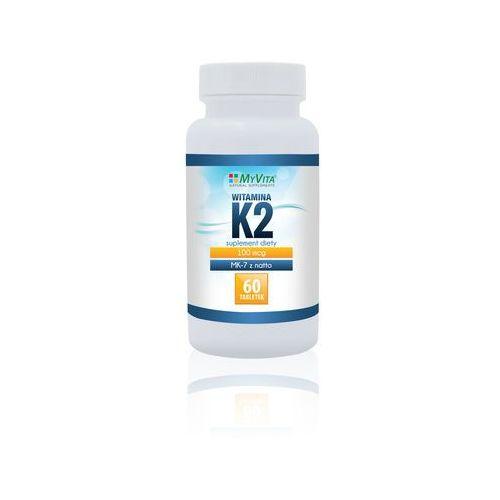 MYVITA Witamina K2 MK-7 z natto 60 tabl. (5905279123441). Najniższe ceny, najlepsze promocje w sklepach, opinie.