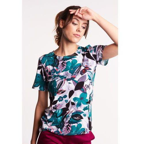 Studio mody pdb Dzianinowa bluzka w kwiaty