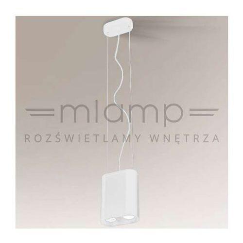 Lampa wisząca inagi 5562/gu10/bi metalowa oprawa minimalistyczna zwis owalny biały marki Shilo