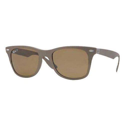 Okulary Słoneczne Ray-Ban RB4195F Wayfarer Liteforce Asian Fit Polarized 603383, kolor żółty