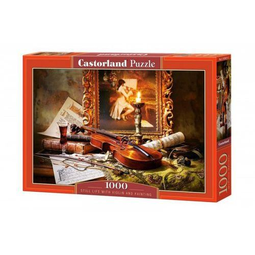 Castor Puzzle still life with violin and painting 1000 -