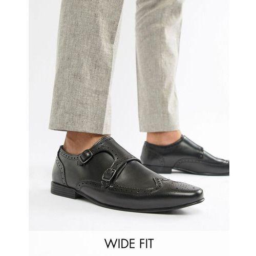 Kg kurt geiger Kg by kurt geiger wide fit kilcardy monk shoes - black