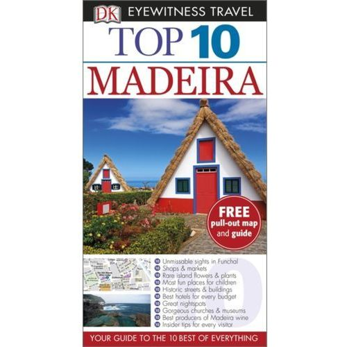 DK Top 10 Madeira Przewodnik Madera z mapą