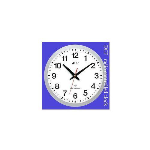 Zegar srebrny sterowany radiowo #1, kolor szary