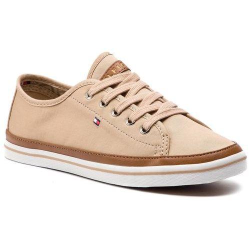 Tommy hilfiger Tenisówki - iconic kesha sneaker fw0fw02823 desert sand 932